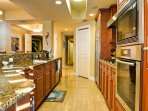 Full kitchen with modern appliances