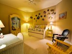 Third guest bedroom with trundle day bed is great for kids