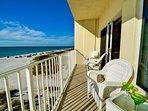 Beachfront balcony overlooking the sands