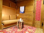 The cosy bedroom with bunked