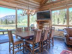 Seating for 8, overlooking the Gallatin River