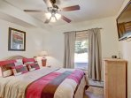 Guest Bedroom - This bedroom features a queen-sized bed.