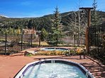 Outdoor Hot Tubs - Enjoy the nice views from the two hot tubs at Tenderfoot.