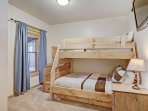 Bunk Beds - There is also a trundle that pulls out underneath the double bed.