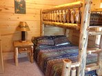 Upstairs bedroom #1: Twin over queen bunk