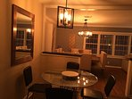 View from the kitchen - Breakfast table and dining area