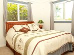 Bedroom 3 vwith queen bed. Nice and bright with natural Hawaiian sunlight coming through.