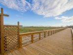 Access to the Carolina Beach Boardwalk is right outside the Cabana Del Mar Condos