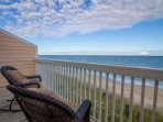 The Master bedroom deck is a great place to spot dolphins feeding in the surf