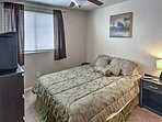 Each bedroom offers a comfy queen-sized bed, along with a cable TV.