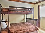 The loft features a twin-over-full twin bunk set, equipped with a twin trundle bed.