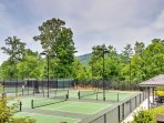 Squeeze in a workout at the community fitness center or choose to workout al fresco on the tennis courts!