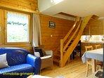 Eat corner - Cook corner - Stairs for bedrooms