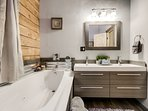 Soak in the Jacuzzi tub and wash away the days stress and just relax!
