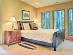 Look forward to ending your vacation days in the spacious master bedroom!