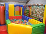 Soft play barn on site
