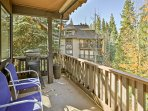 Enjoy landscape views and interior luxury from this vacation rental condo in Incline Village.