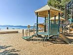 Let the kids romp around on the community playground while you enjoy the beach!