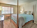 Cozy up on the queen bed in the second bedroom.