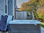 Sit back and relax in the private hot tub!