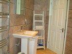 Bathroom double shower heated towel rails & under floor heating