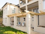 garden level (one bedroom flat), seperate to the two bedroom apartment