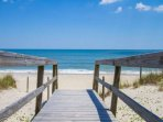 Easy and quick walk to the beach with 2 access points and lifeguard stations nearby.