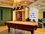 Make use of the billiards room