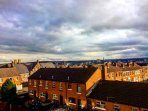 Views over Belfast from the balcony