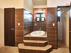 Master bathroom, walk-in shower, WC room