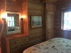 Master bedroom with built in dresser
