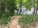 Steps to the Boat House from the beach