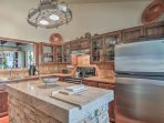 There's ample counterspace to prepare delicious meals in the kitchen.