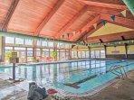 Swim laps in the indoor community pool!