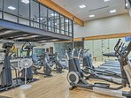 Stay true to your workout routine by utilizing the fitness center.