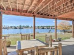 Grill your catch of the day on the propane or gas grill and savor every bite, along with the water views from the...