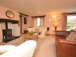 Lounge with door into rear garden