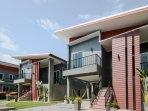 Entire 6 bedroom villa complex split into 3 villas.From left .L villa ,S1 villa and S2 villa.