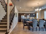 Dining/Kitchen/Stairs