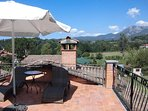 Relax on one of the roof terraces with a mountain vista