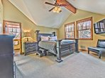 Master Suite on the Upper Level with a King Bed, Flat Screen TV and Private Bath