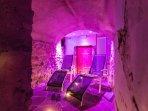 Area relax dello Chalet con Cromoterapia