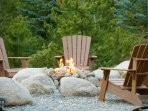 Outdoor fire pit with plenty of seating