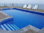 Access to a private pool subject to availability and a charge of 10 EUR per day payable locally.