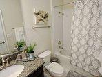 First Floor Shared Hall Bath w/Shower & Tub Combination