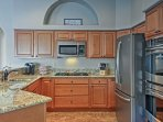 Try out a new recipe in the fully equipped kitchen!