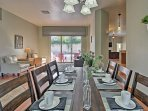 Dig in to your more formal meals in the dining room.
