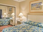 Two guests will sleep well in the second bedroom, which also has a queen bed.