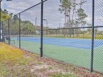 Challenge each other to a tennis match at the community courts!