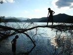 Kids love Nantahala Lake for swimming, canoeing, paddle boarding.
